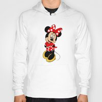minnie mouse Hoodies featuring Cute Minnie Mouse by Yuliya L