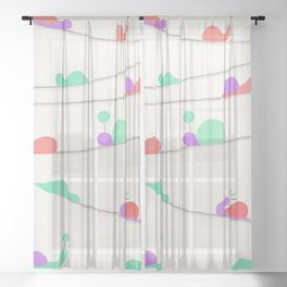 It's a Snail Snail World Sheer Curtain