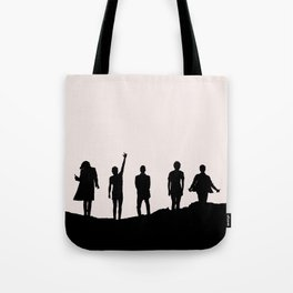 1D Silhouettes Tote Bag