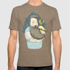 Bird Tri-Coffee Mens Fitted Tee LARGE
