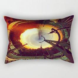 sunset from a rabbithole Rectangular Pillow
