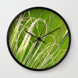 Palm Fan Art Wall Clock
