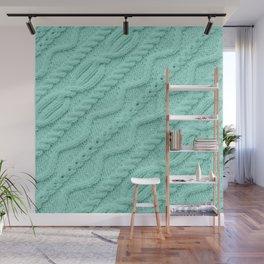 Seafoam Mint Cableknit Wall Mural