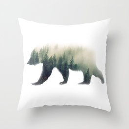 Grizzly Bear Dream Throw Pillow
