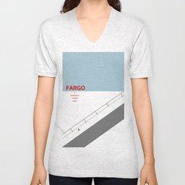 Fargo minimalist poster Unisex V-Neck