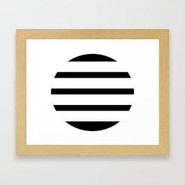 Blinding Sun Black Framed Art Print