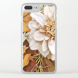 Autumn's Floral Clear iPhone Case