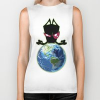 invader zim Biker Tanks featuring Invader Zim by Proxish Designs