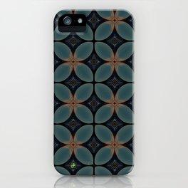 Metallic Deco Blue iPhone Case