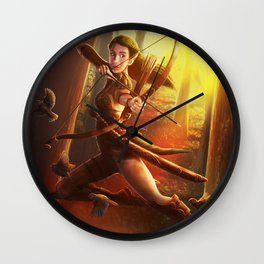 Morning Hunt Wall Clock