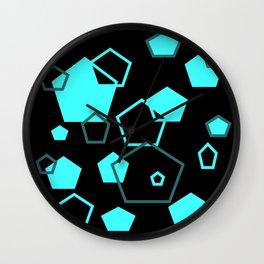 pentagon pattern Wall Clock