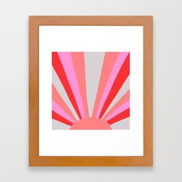sunshine state, coral Framed Art Print