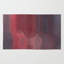 Pink Gray and Red Abstract Watercolor Rug