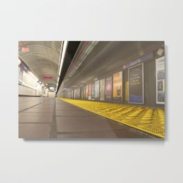 Motion Blur Granville Skytrain 3 Metal Print