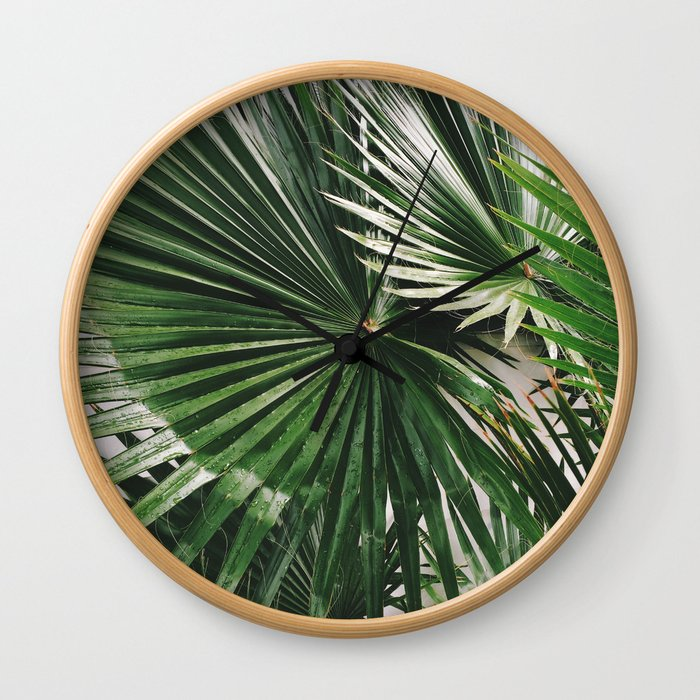 Fan Palms Wall Clock