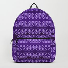 Chained Circles in Purple Backpack