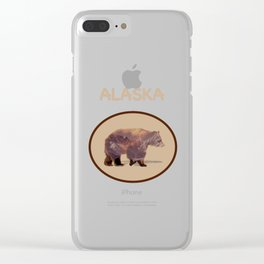 Glacier Grizzly Clear iPhone Case