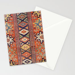 Southwestern Farmhouse III // 19th Century Colorful Red Yellow Blue Green Aztec Farm Stars Pattern Stationery Cards