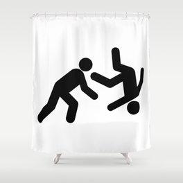 Stickman Throw Shower Curtain