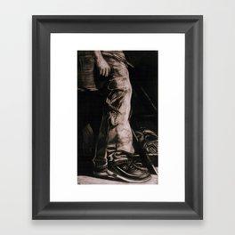 NY TRAINERS Framed Art Print