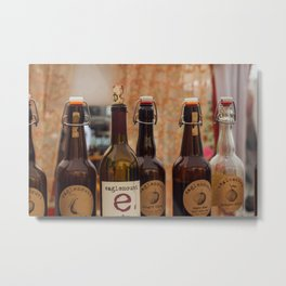 Cider Bottles - Seattle, WA Metal Print