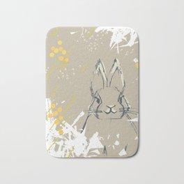 Bunny Portrait M+M Latte by Friztin Bath Mat