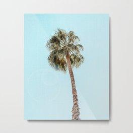 Single Palm Metal Print