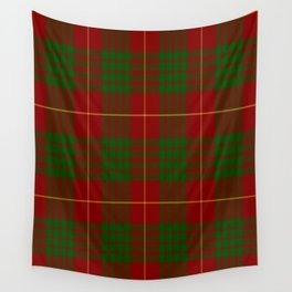 Cameron Red & Green Tartan Pattern #2 Wall Tapestry