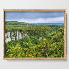 Cotopaxi National Park Landscape Scene Serving Tray