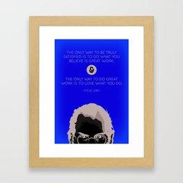 Steve Jobs Quote Framed Art Print