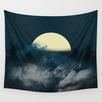 night sky Wall Tapestries featuring Night Sky by Kathe Gravel