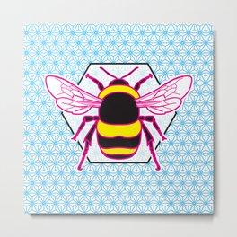 Geometric Bumblebee Metal Print