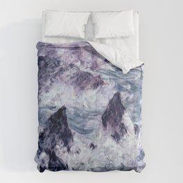 Monet : Storm At Belle Ile Comforters