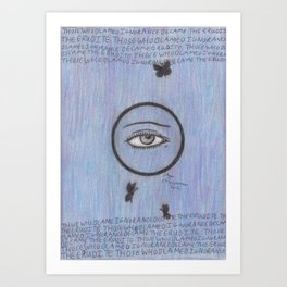 Erudite. Art Print