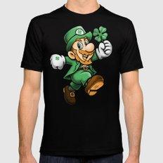 Lucky Mario Mens Fitted Tee MEDIUM Black