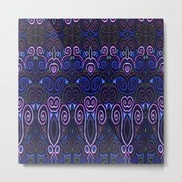Sahasrara Repeating Metal Print