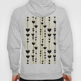 Hearts And Lines Pattern Hoody