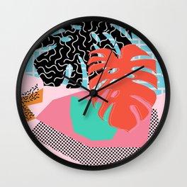 Memphis Palm Wall Clock