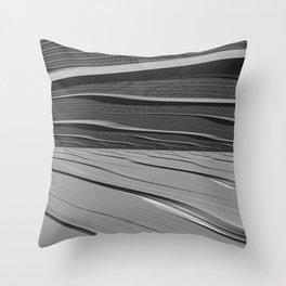 dual realities: white Wasteland Throw Pillow