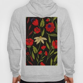 Floral embroidery Hoody