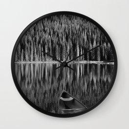 Piney Lake Reflection: Vail Colorado Wall Clock