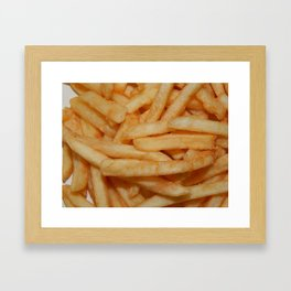 Food bought in a shop at home Framed Art Print