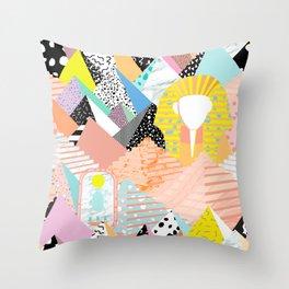 Postmodern Pyramids Throw Pillow