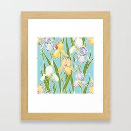 Irises in the sky Framed Art Print