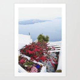 Santorini views Art Print