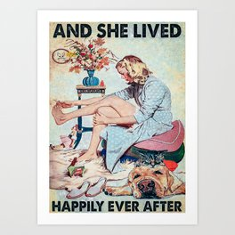 Animals Happily Ever After Art Print
