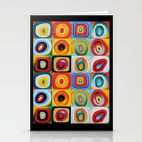 kandinsky Stationery Cards featuring Farbstudie Quardrate by Wassily Kandinsky by designforme