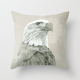 Bald Eagle Majestic Throw Pillow
