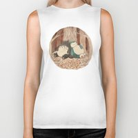 snorlax Biker Tanks featuring Best Friends Forevah by Najmah Salam