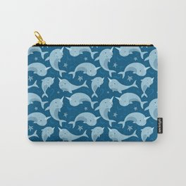 Blue Narwhals Sealife Carry-All Pouch